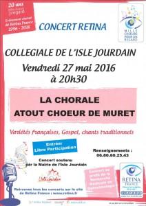 Concert Rétina L'Isle Jourdain
